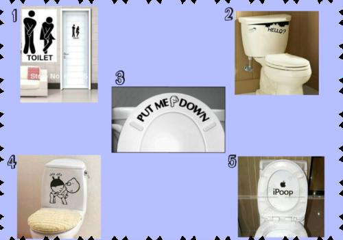 Adesivo para banheiro | Coisas diferentes