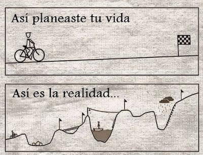 La vida es mas dificil de lo planeado