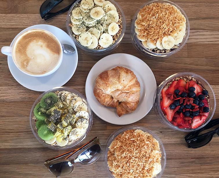 A rainbow of açai bowls in Miami, healthy breakfast, health food