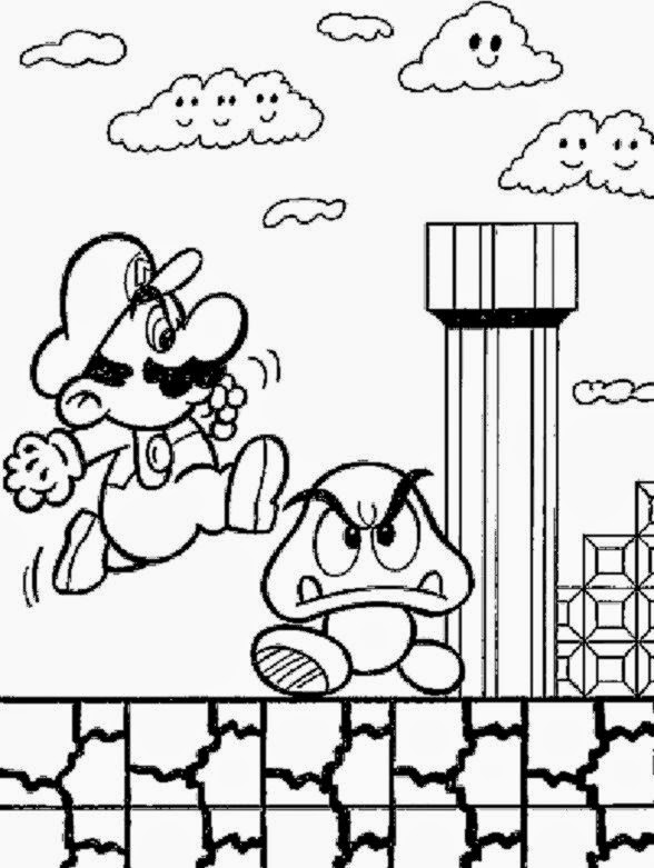 Super Mario Coloring Pages Free Printable Cool