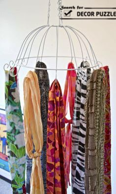 creative scarf display ideas, scarves hangers