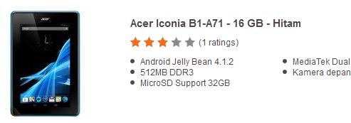Harga Tablet Android Murah 900 Ribuan Terbaru