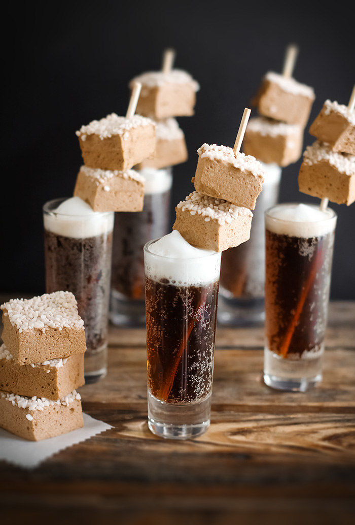 Root Beer Float Marshmallows | Sprinkle Bakes