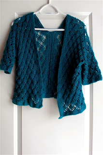 Rose Valley Cardigan finished, front