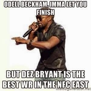 odell beckham, imma let you finish but dez bryant is the best wr in the nfc east. #BeckhamJr #DezBryant #Nfceast