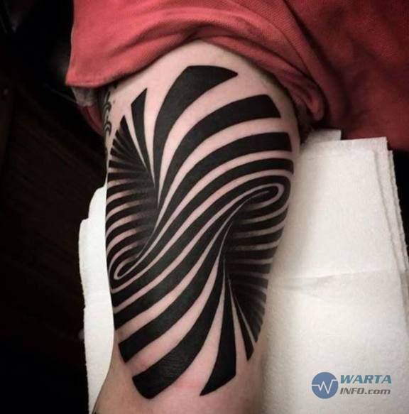 foto gambar tato lengan unik dan keren