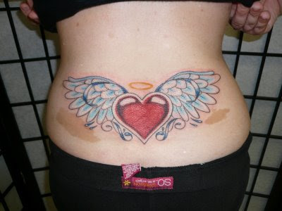 Lower Back Heart Tattoos Ideas For Girls