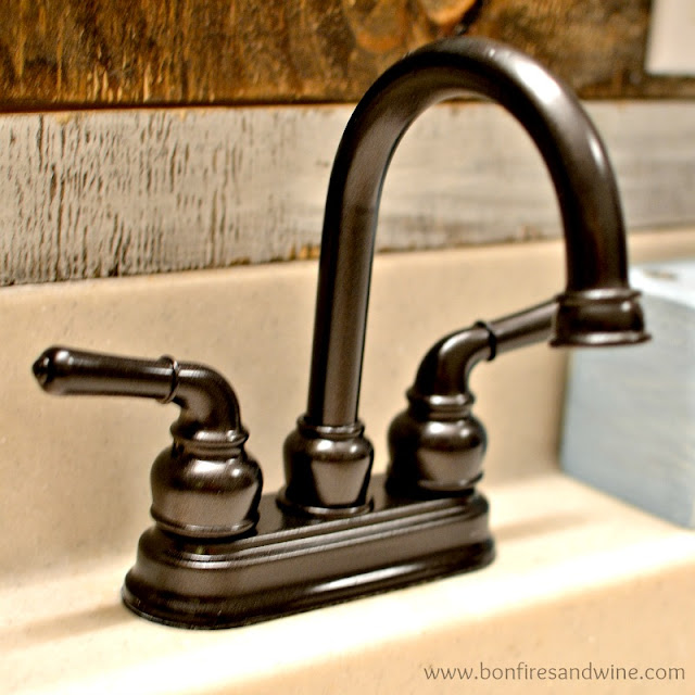 Bonfires And Wine Faucet Face Lift Spray Paint To The Rescue - Spray paint bathroom fixtures