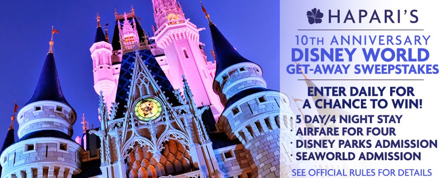 Disney World Vacation Sweepstakes. Ends 3/28