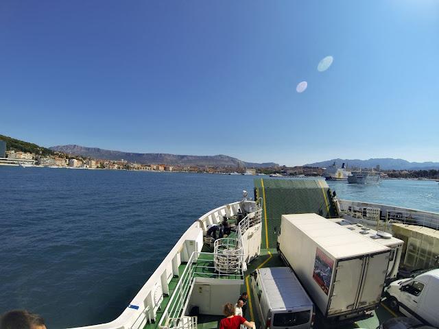 Prom na Hvar Split - Stari Grad  widok na Split