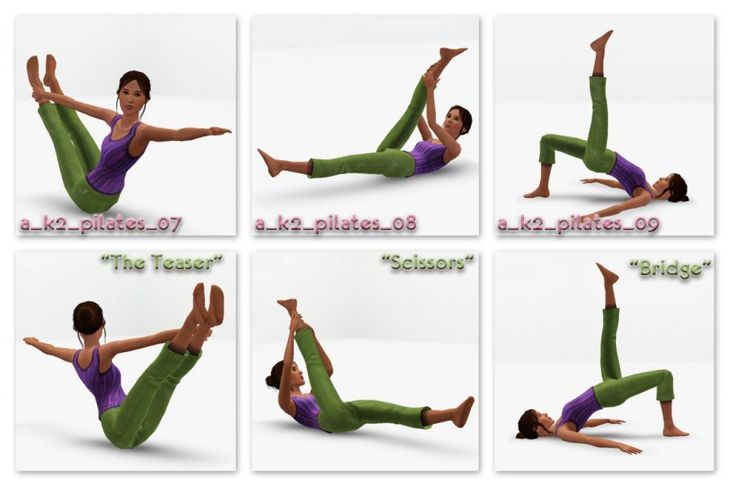 My Sims 3 Blog Pilates Poses By K2m1too K2