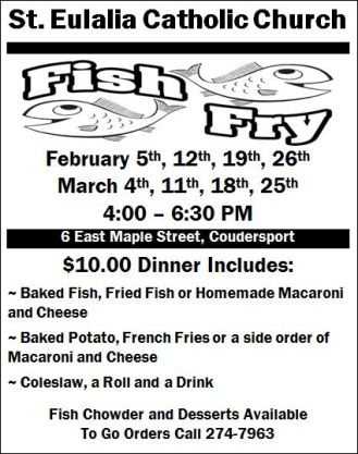 2-12 St. Eulalia Fish Fry, Coudersport