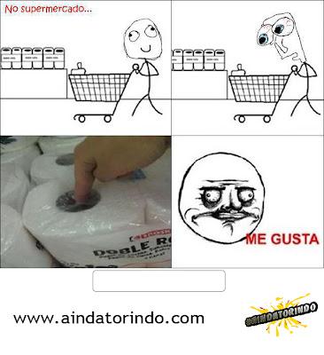 No supermercado...