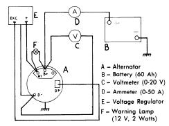repair manuals motorola 1963 75 s e v alternator regulators regulator test circuit