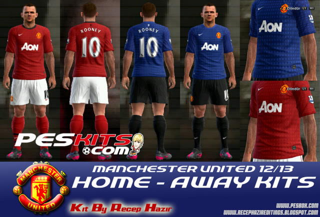 PES 2012 Manchester United 12/13 Kits by recep Hazir
