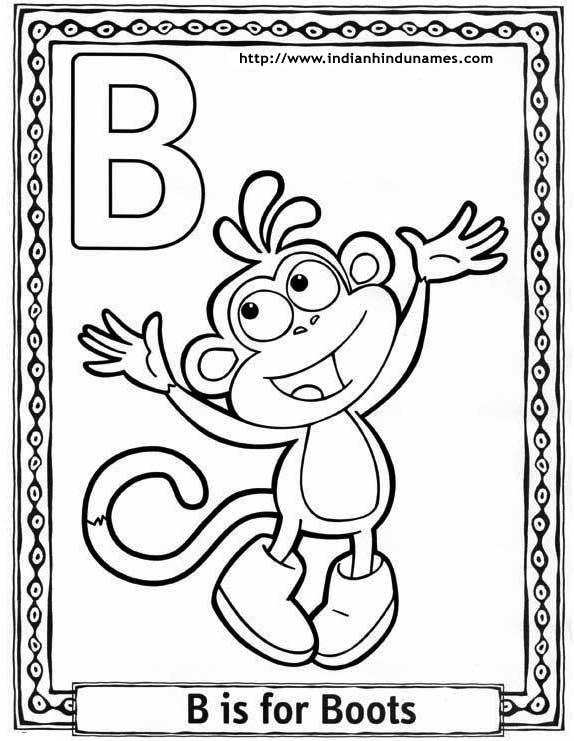 coloring pages letter b - photo#36