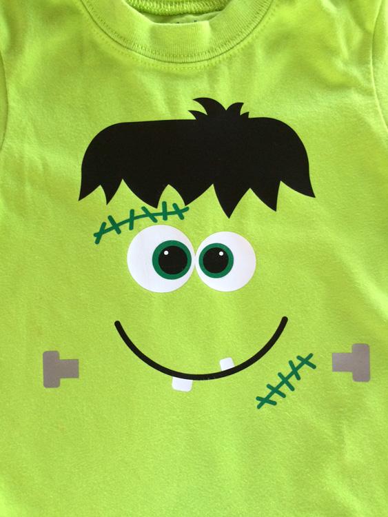Easy Frankenstein Shirt W Heat Transfer Vinyl Burton