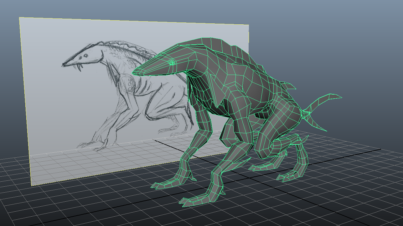 Creature 3d model space cadet for Createur 3d