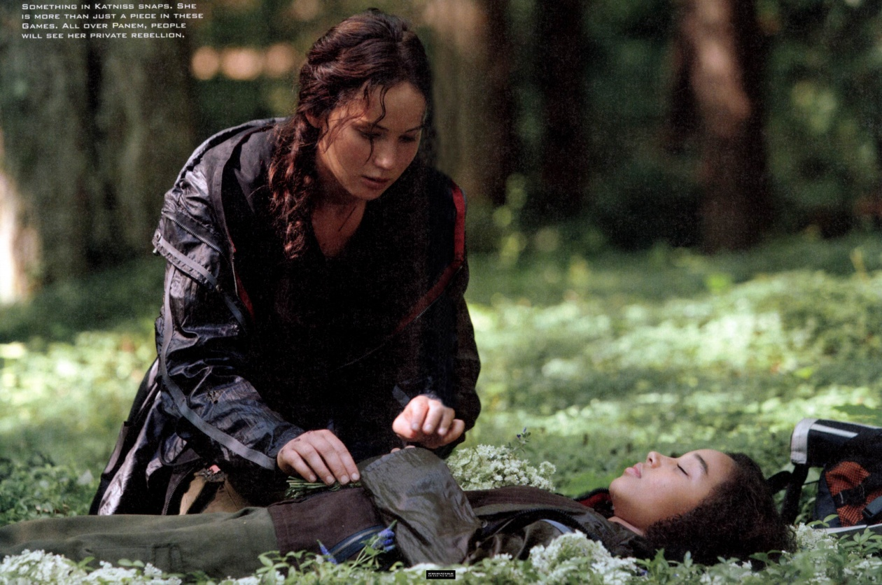 Of hunger games magazine scans more stills from the movie the hunger