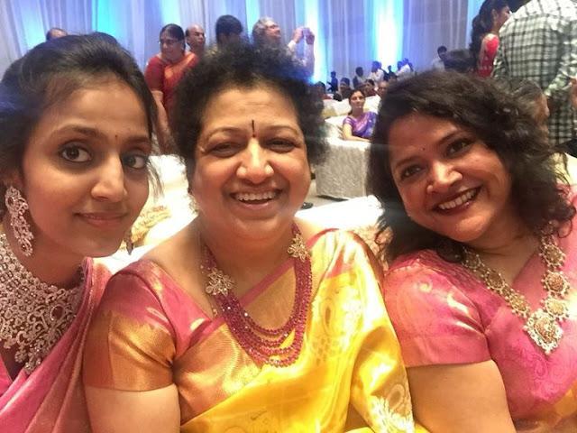 Lakshmi Pranathi and Shalini Jewelry