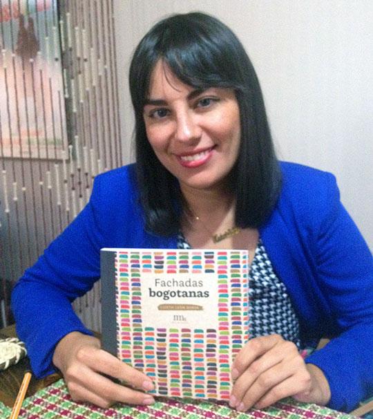 Lizeth León, autora del libro Fachadas Bogotanas