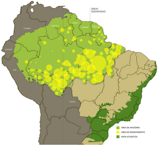 Mapa sobre a devastação no Brasil!!!