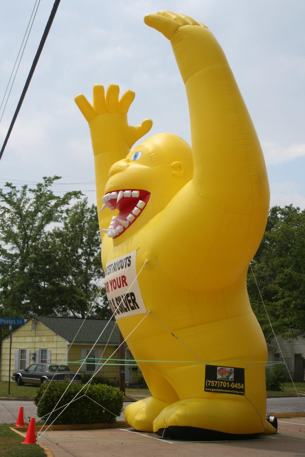 on Big Yellow Inflatable