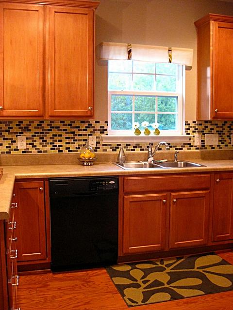 eat sleep decorate diy tile backsplash kitchen reveal