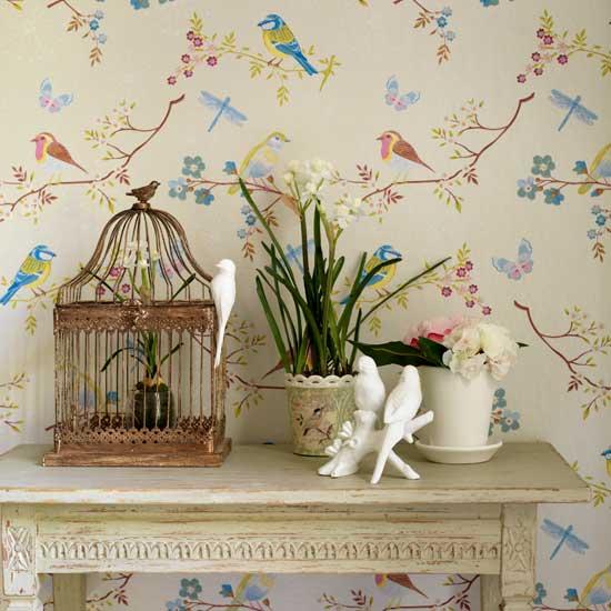flores e passaros na decora%25C3%25A7%25C3%25A3o Como decorar a casa com flores.