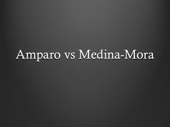 Amparo vs Medina-Mora