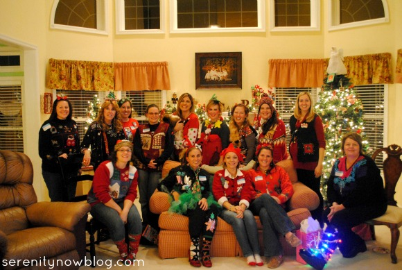 Throw Your Own Ugly Christmas Sweater Party! from Serenity Now blog