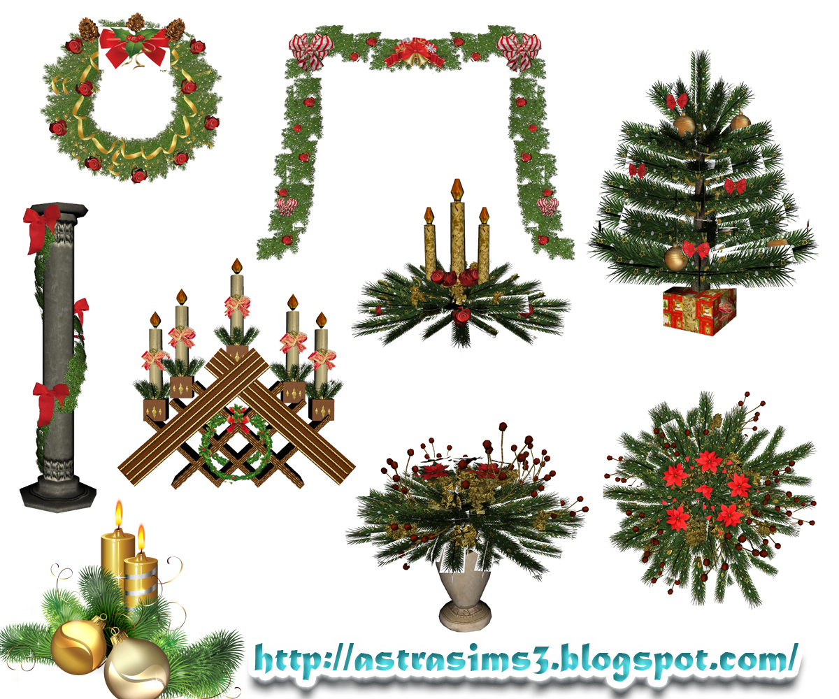 Christmas Decor Sims 3 : My sims christmas decorations by astra