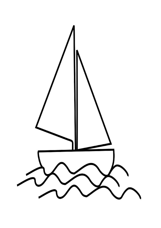 Line Drawing Yacht : Coloring pages of yacht
