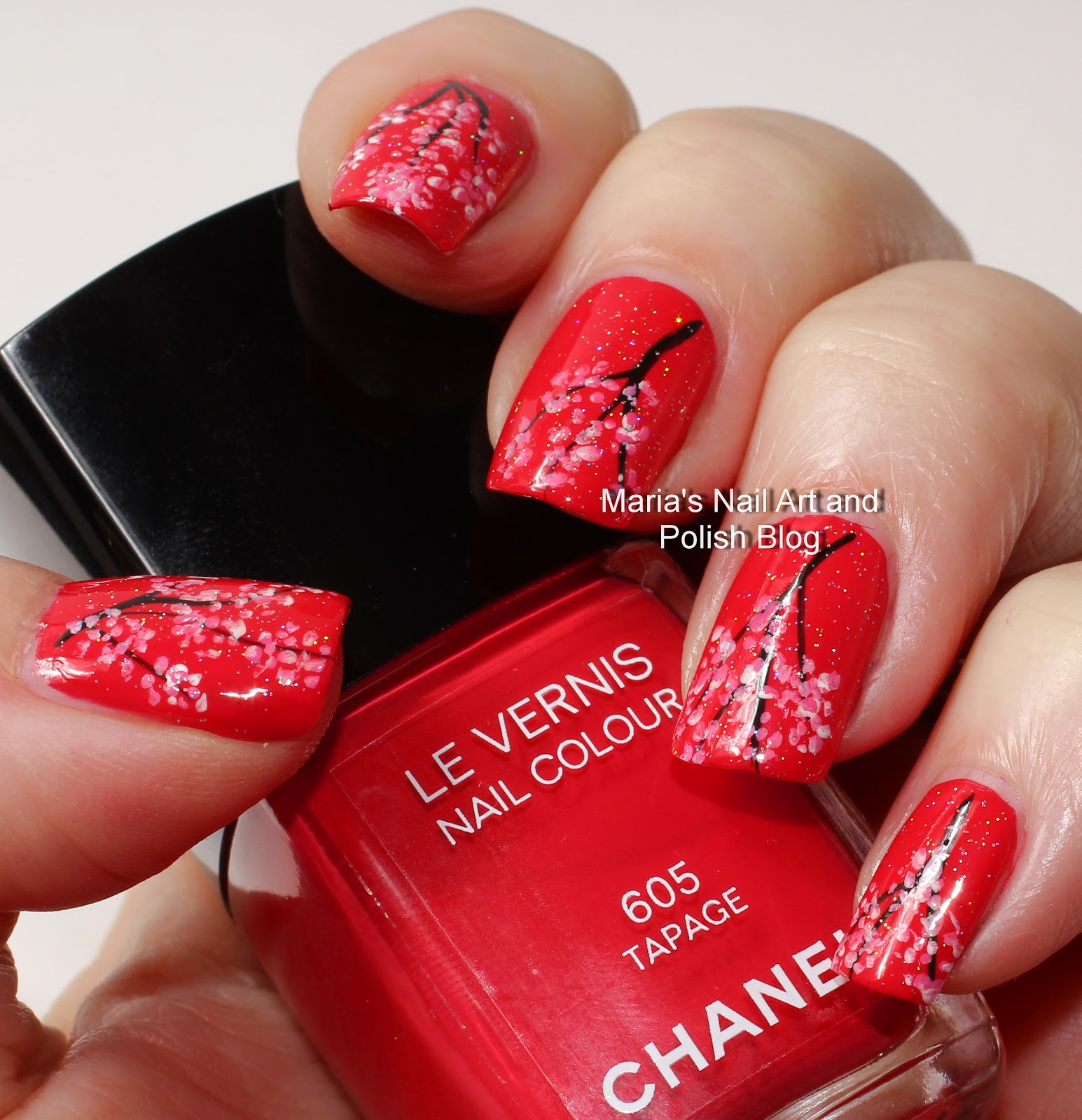 Marias Nail Art And Polish Blog Flushed With Stripes And: Marias Nail Art And Polish Blog: Tapage Cherry Blossom