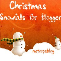 Christmas snowfalls with breeze for Blogger 2012
