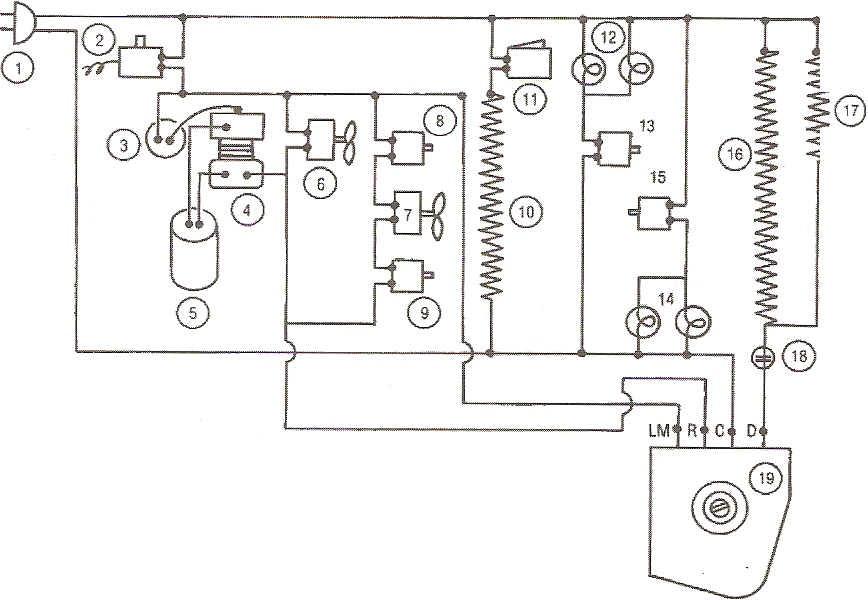 Circuito Electrico Heladera Comercial : Refrigeracion circuito electrico de un refrigerador