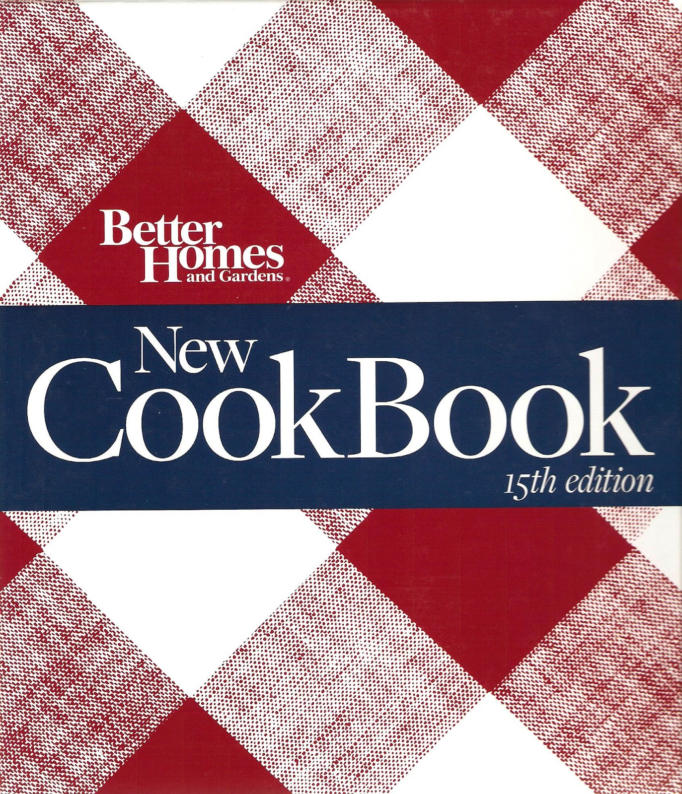 Cookbook Red Checkered Cover : The iowa housewife better homes and gardens red plaid