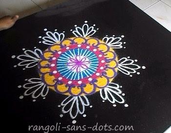 For rangoli with dots please go to Pulli kolam , rangoli with 6 dots