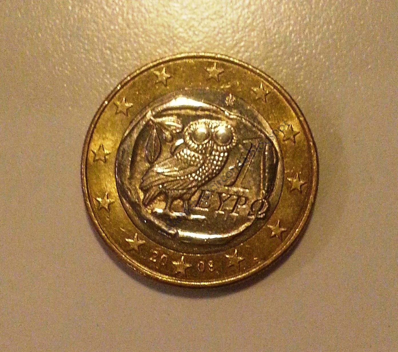 1 euro greco - Civetta porta fortuna ...