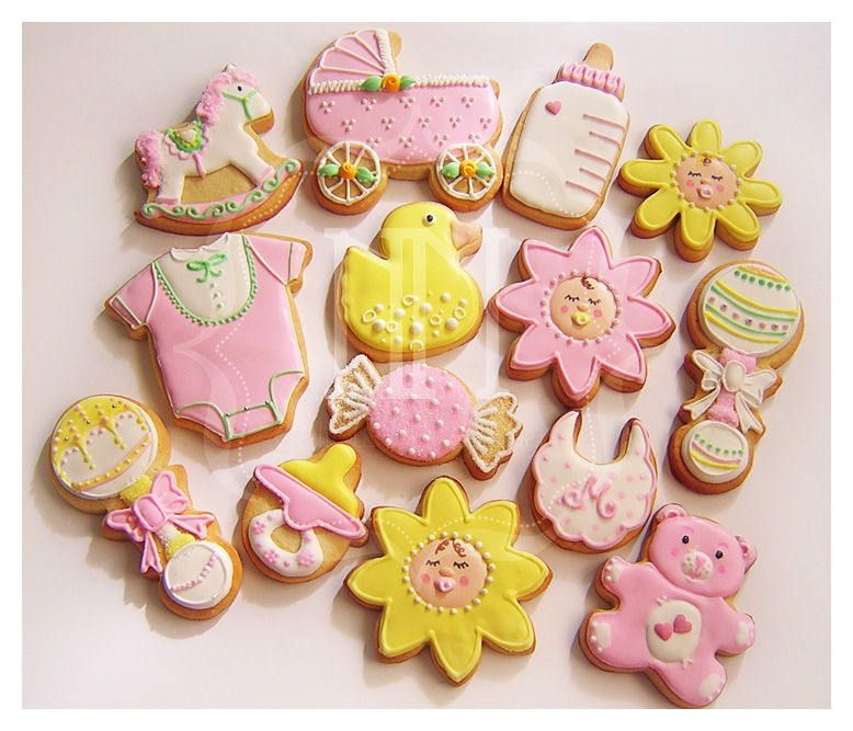 encargó estas galletas para celebrar el bautizo de su niña, Martina