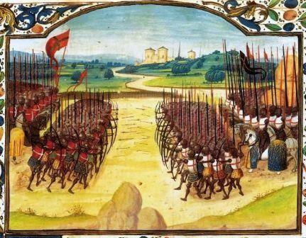Gravure de la bataille d'Azincourt