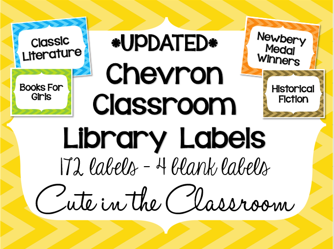 http://www.teacherspayteachers.com/Product/Chevron-Classroom-Library-Labels-779081