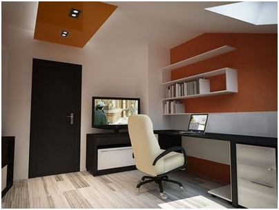 Office at home for 2 people and a waiting area