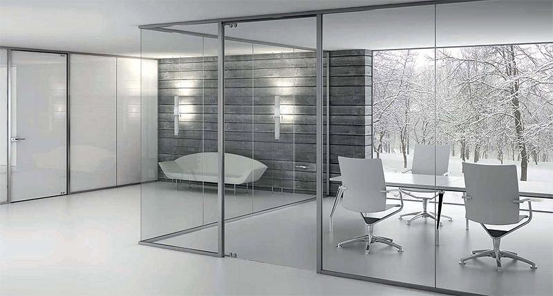 Arlex divide el espacio con su sistema de mamparas for Mamparas cristal oficina