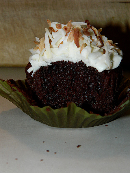 Jenny's Cookbook: Chocolate Coffee Cupcakes with Coconut Frosting