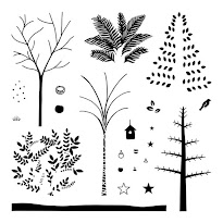 November Stamp of the Month - Seasonal Trees