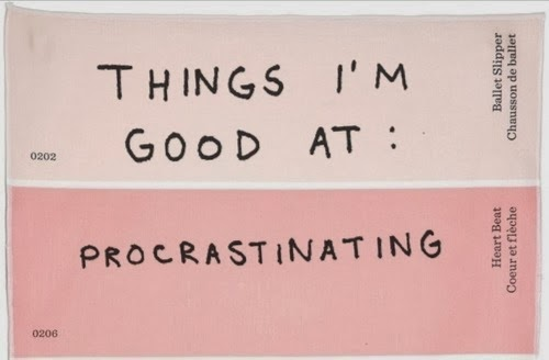 procastinating