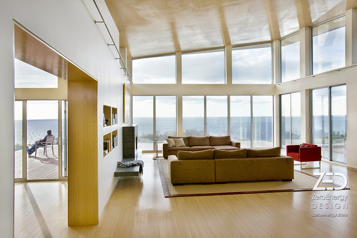 Living room with natural lighting and view