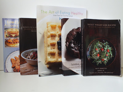 My collection of Maria Emmerich's Cookbooks
