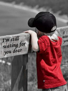 waiting for u- cute child